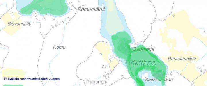 Ensimmäinen niittorupeama suoritettu! Niitetyt alueet (kartta)