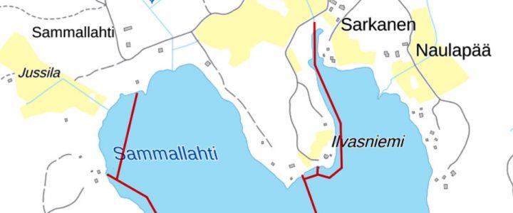 Pitkäjärven pohjaan asennettu vesijohtoverkosto