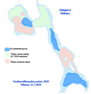 Vesikasvillisuuden poisto Pitkäjärveltä