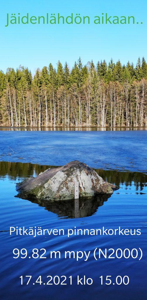 Pinnankorkeusasteikko Pitkäjärvellä