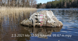 Pitkäjärven pinnnakorkeus 2.5.2021